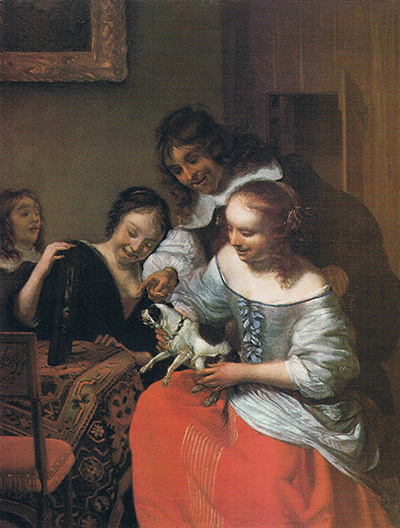 Barent Graat, Amsterdam 1628 - 1709, Teasing the Puppy